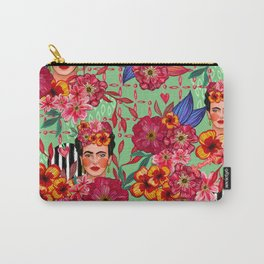 Frida Bouquet Carry-All Pouch