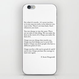 fitzgerald for what it's worth iPhone Skin