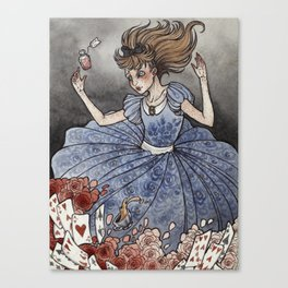 Alice in Wonderland art print Canvas Print