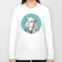 jennifer lawrence Long Sleeve T-shirts featuring Jennifer Lawrence by Sharin Yofitasari