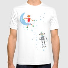 Music in Space Mens Fitted Tee MEDIUM White