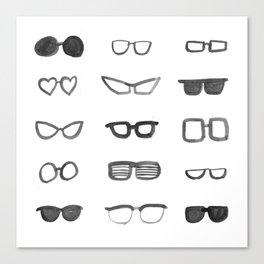 Black and White Sunglasses Canvas Print