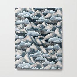 Stormy Mountain Night Metal Print