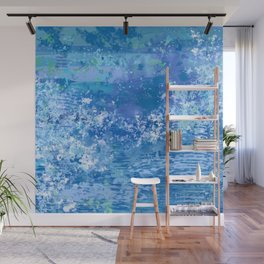 Blue Abstract, Ocean, Sky Wall Mural