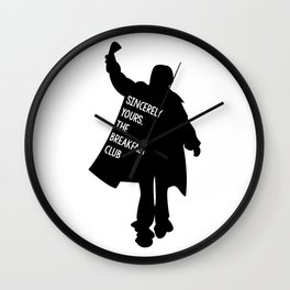 Sincerely Yours, The Breakfast Club Wall Clock