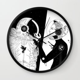 I Found a Space for Us Wall Clock