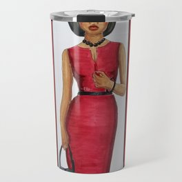 The Woman In Red Travel Mug