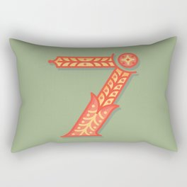 Alphabet Drop Caps Series- 7 Rectangular Pillow