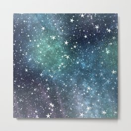 Collection of stars night view Metal Print
