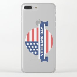 Veterans Day Commemorative Flag Design Clear iPhone Case