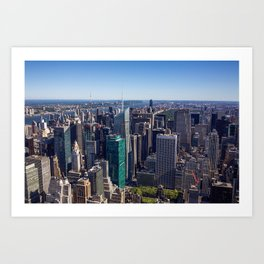 New York City at Empire State Building Art Print