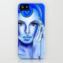 Jewellisina V1 - blue treasure iPhone Case
