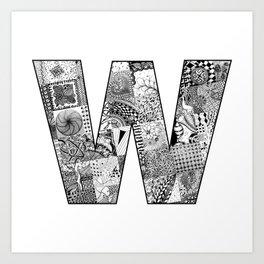 Cutout Letter W Art Print