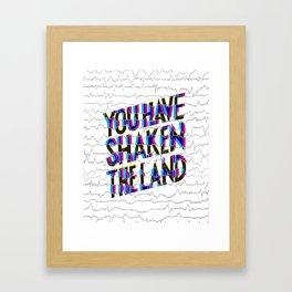 Psalm 60: You have shaken the land Framed Art Print