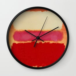 ROTHKO-WHITE CLOUD OVER RED Wall Clock