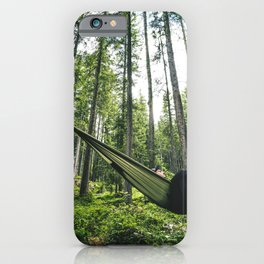 man resting on the hammock iPhone Case