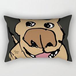 Citydog, beige/gray Rectangular Pillow
