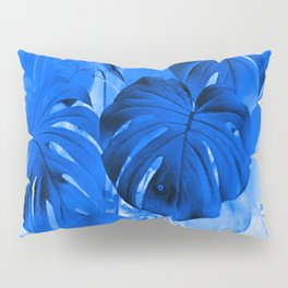 A Philodendron in blue Pillow Sham