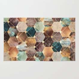 Natural Hexagons And Diamonds Rug