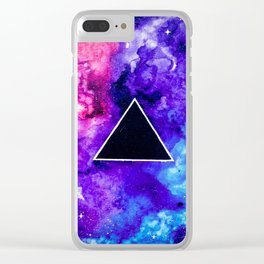 Black Hole Trinity Clear iPhone Case