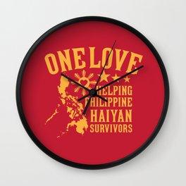 HAIYAN FUND RAISER Wall Clock