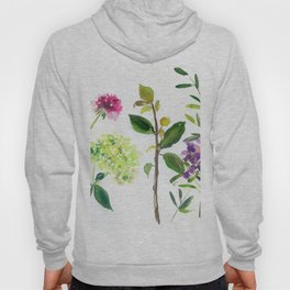 hydrangeas and other stems Hoody