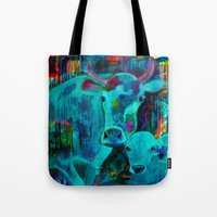 cows Tote Bags featuring Cows by Silke Powers