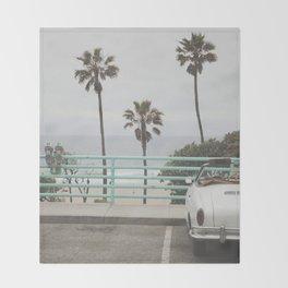 Cruisin Manhattan Beach Throw Blanket