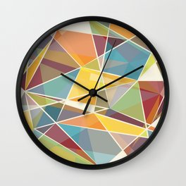 Prismatic cracks in time Wall Clock