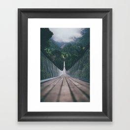 Crossing bridges. Framed Art Print