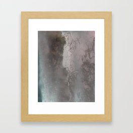 negative sea Framed Art Print