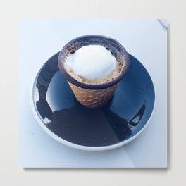 Espresso Macchiato in a Chocolate Dipped Waffle Cone Shot Metal Print
