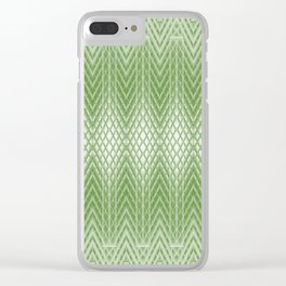 Cool Lime Green Frosted Geometric Design Clear iPhone Case