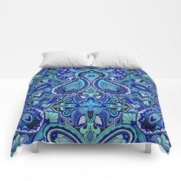 Paisley Blue Comforters