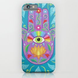 Protective Hamsa Talisman iPhone Case