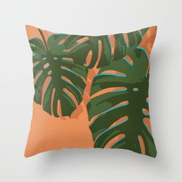 Tropical Plant III Throw Pillow