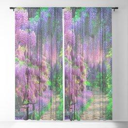 Wisteria garden Sheer Curtain