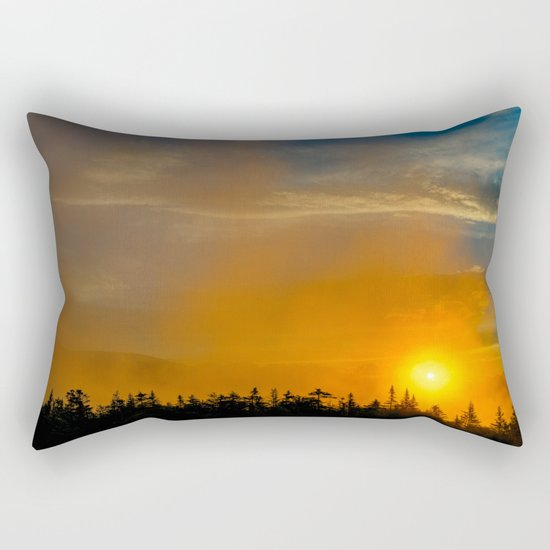 Gold Mist Sunset Rectangular Pillow