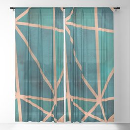 Copper & Emerald Geo Sheer Curtain
