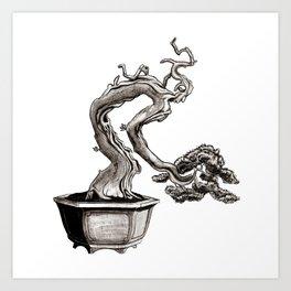 """Tree-man"" Bonsai Art Print"