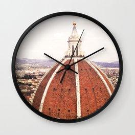 Duomo - Hazy, Florence Photography Wall Clock