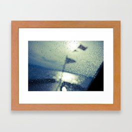 Water on the boat Framed Art Print