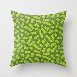 I Dream of Toilet Paper - Slime Throw Pillow