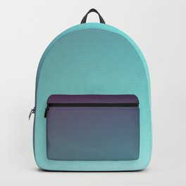 AQUA / Plain Soft Mood Color Blends / iPhone Case Backpack