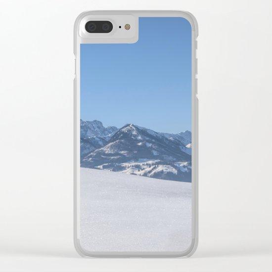 Winter Wonderland III Clear iPhone Case
