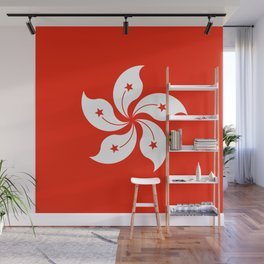 Flag of hong kong Wall Mural