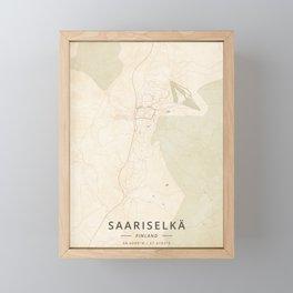 Saariselka, Finland - Vintage Framed Mini Art Print