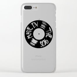 Made in the 90s Vinyl Clear iPhone Case