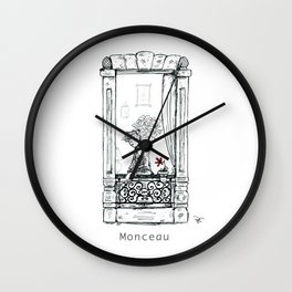 A Few Parisians: Monceau by David Cessac Wall Clock