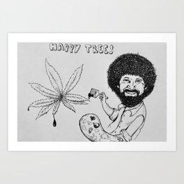 Happy Trees Art Print
